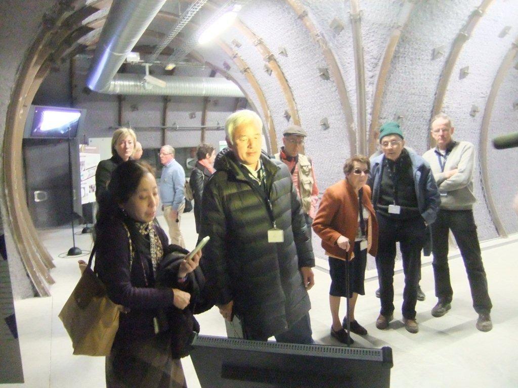 Naoto Matsumura a visité le centre CIGEO à Bure le 7 mars 2014.