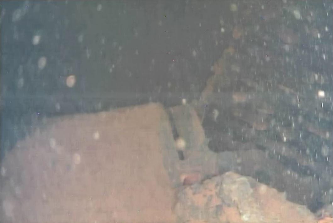 Grille tombée au fond de l'enceinte de confinement (source : Tepco)
