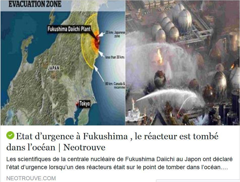 Capture d'écran de l'article en ligne sur neotrouve.com