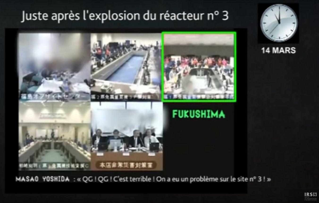Fausse traduction de l'IRSN (capture d'écran de la vidéo de l'IRSN)