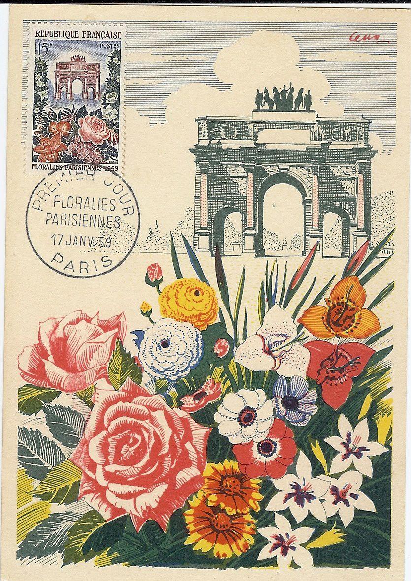 carte Floralies en 1959