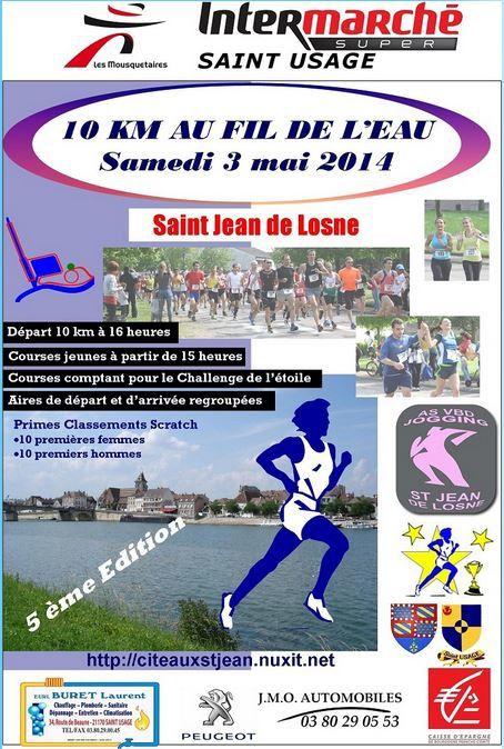 Samedi 3 mai 2014 - 10 km au fil de l'eau - St Jean de Losne