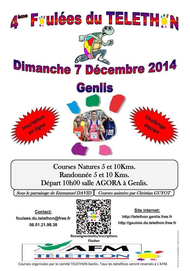 Dimanche 7 décembre 2014 - Les Foulées du Téléthon - GENLIS