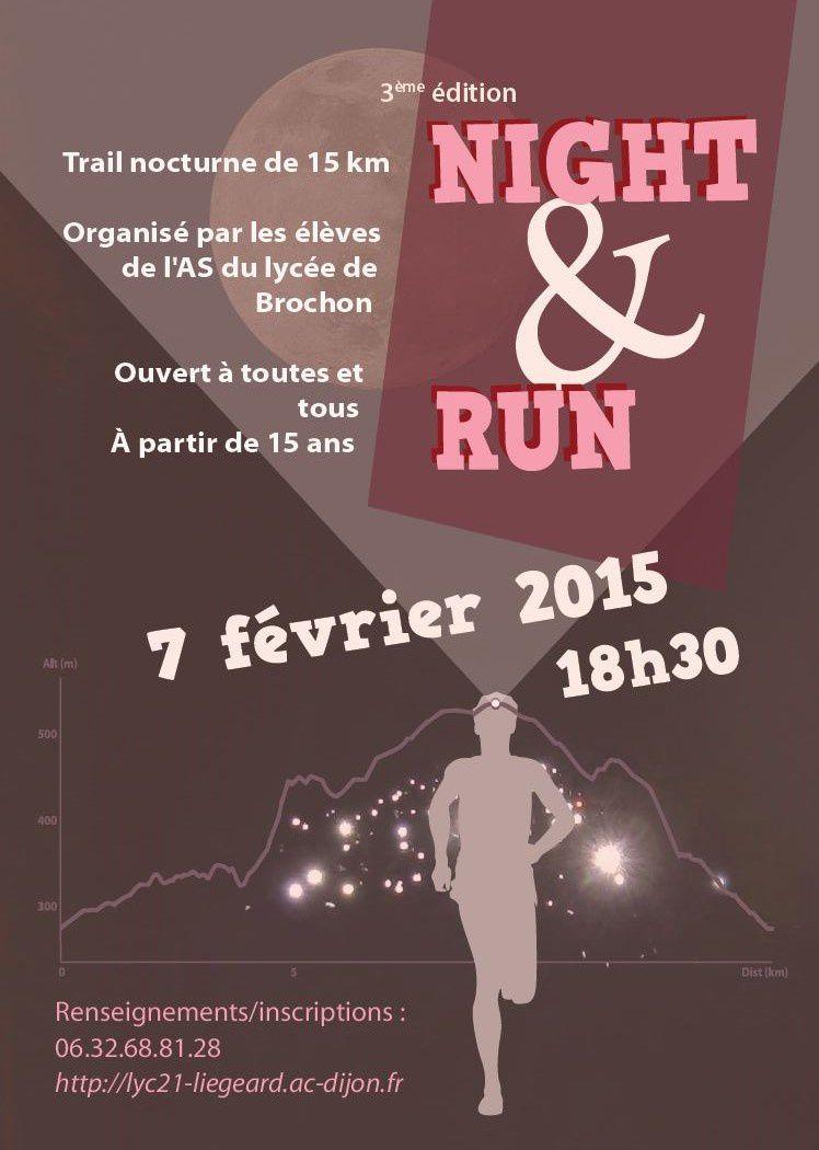 Samedi 7 février 2015 - Trail Night &amp&#x3B; Run - Brochon