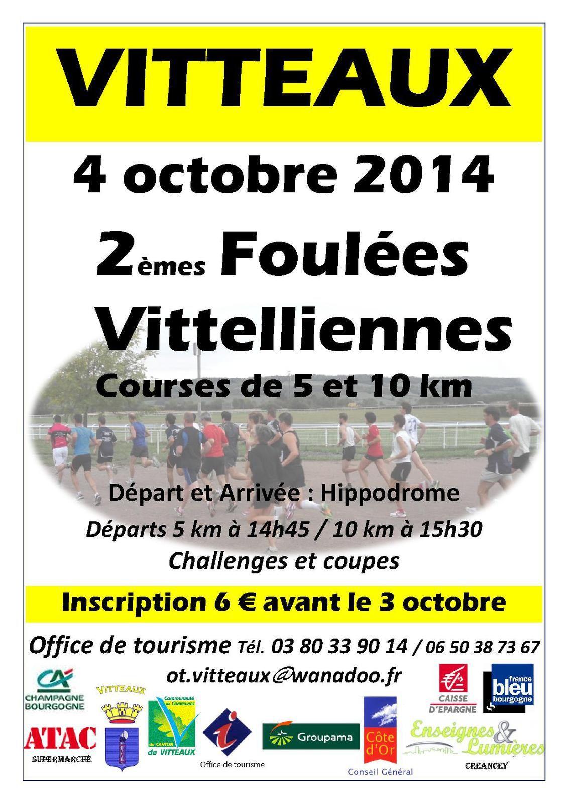 Samedi 4 octobre 2014 - Les Foulées Vittelliennes - Vitteaux