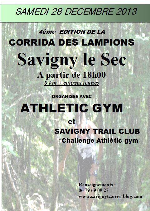 Samedi 28 décembre 2013 - Corrida des Lampions - Savigny le Sec