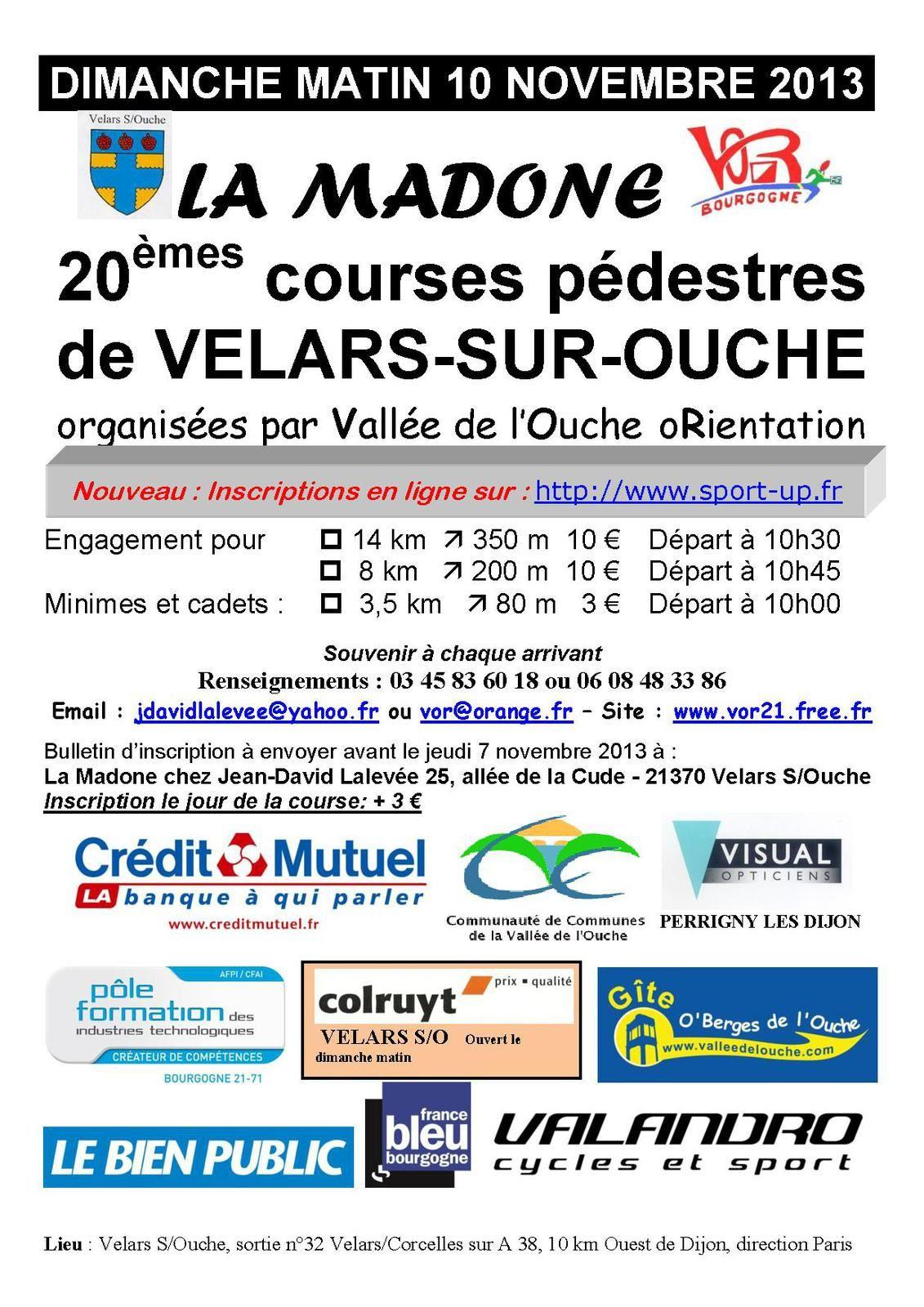 Dimanche 10 novembre 2013 - La Madone - Velars-sur-Ouche