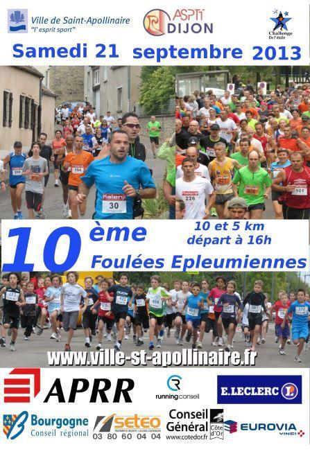 Samedi 21 septembre 2013 - Les Foulées Epleumiennes - Saint Apollinaire