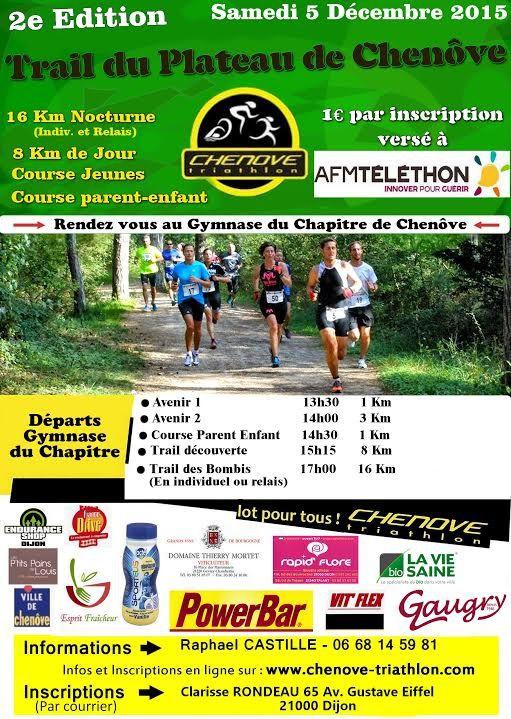 Samedi 5 décembre 2015 - Trail du Plateau - Chenôve