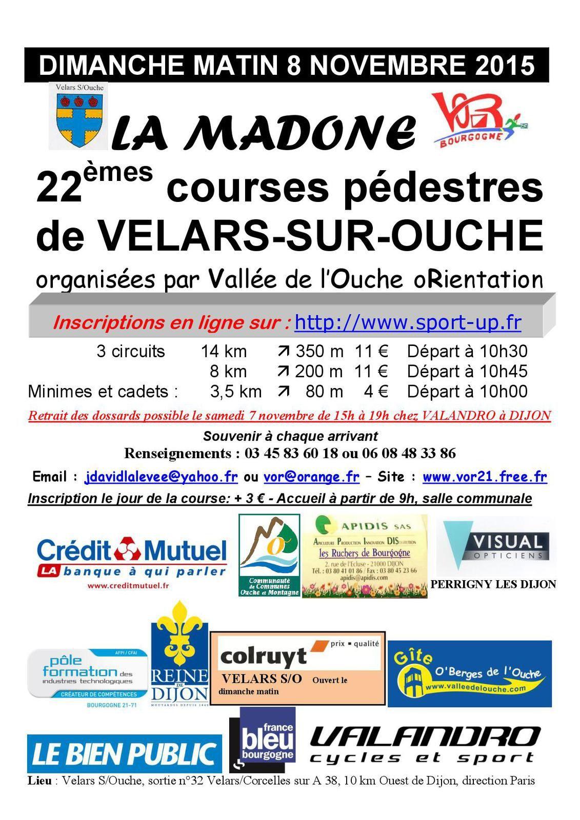 2015-11-08 - Dimanche 8 novembre - Trail de la Madone - Velars sur Ouche