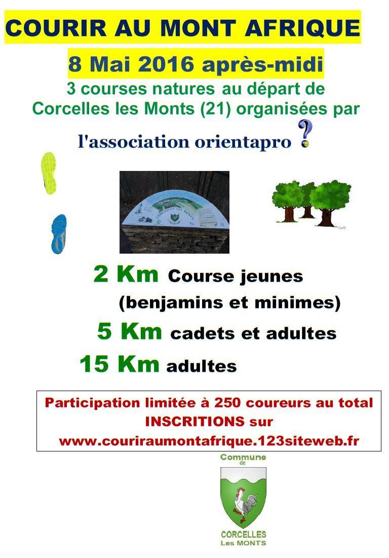 Dimanche 8 mai 2016 - Courir au mont Afrique - Corcelles-les-Monts