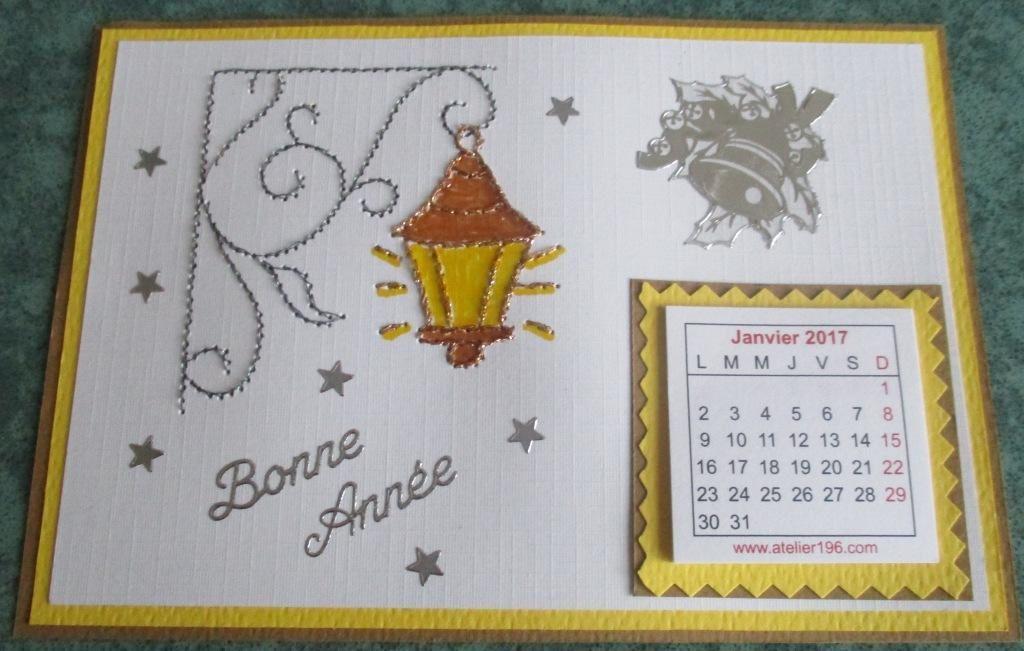DEFI 47-2016 - CARTE BRODEE- 1ere partie
