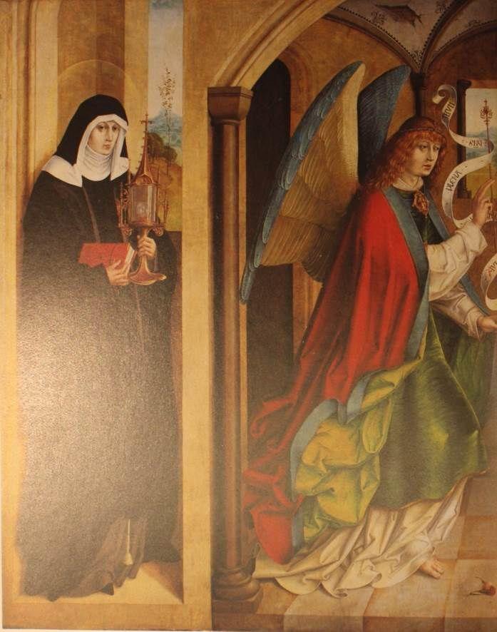 Jan van Eyck, L'homme à l'œillet, 1435 / Maître à l'œillet de Zurich /Maître à l'œillet de Baden / Œillets de l'Annonciation et oeillet de la Nativité