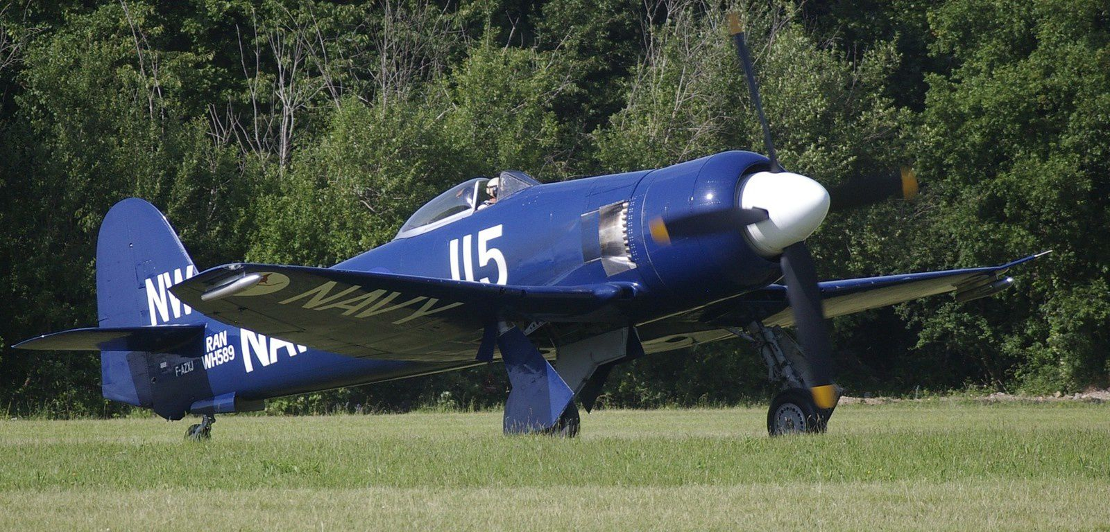 Le Hawker Sea Fury de Christophe Jacquard, basé à Dijon