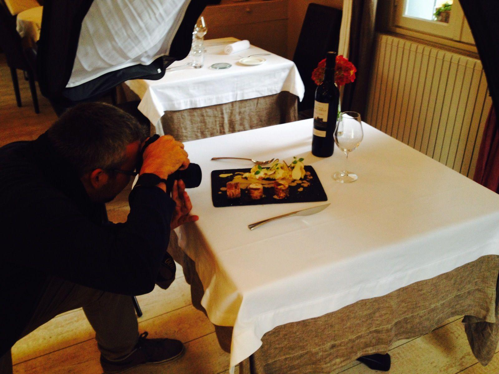 un photographe au restaurant le colombier offranville
