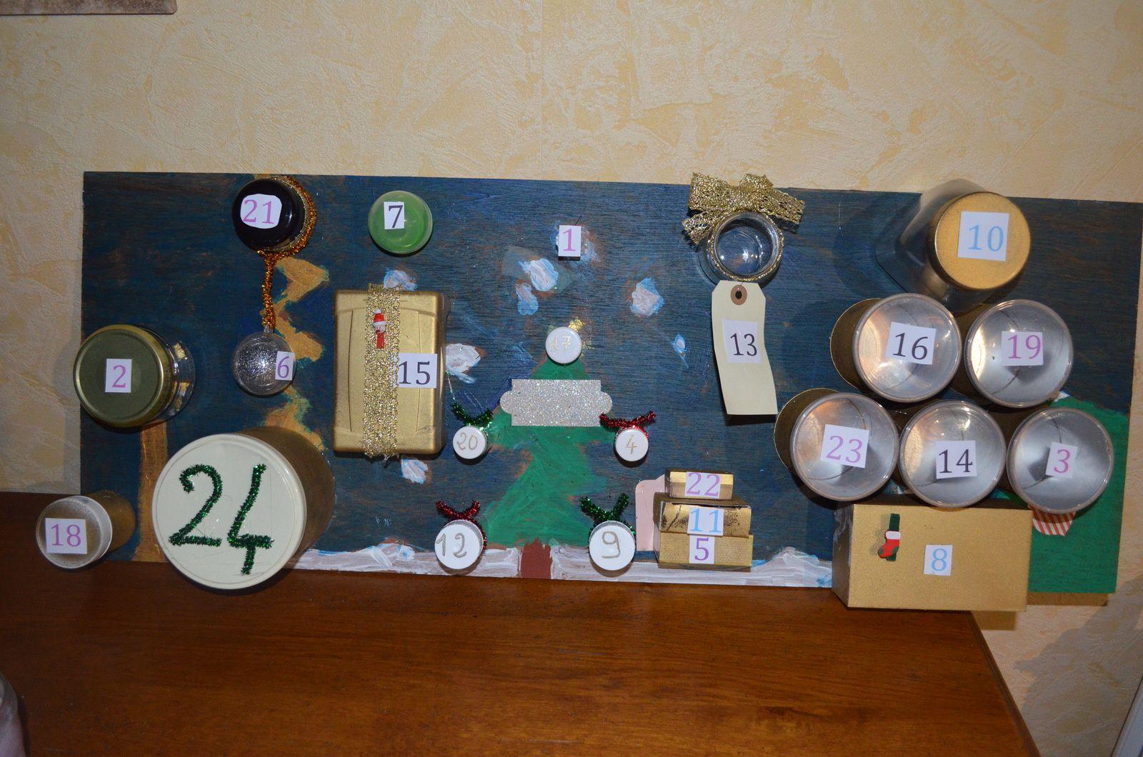 faire un calendrier de l 39 avent esprit recup myl et une id es cr atives. Black Bedroom Furniture Sets. Home Design Ideas