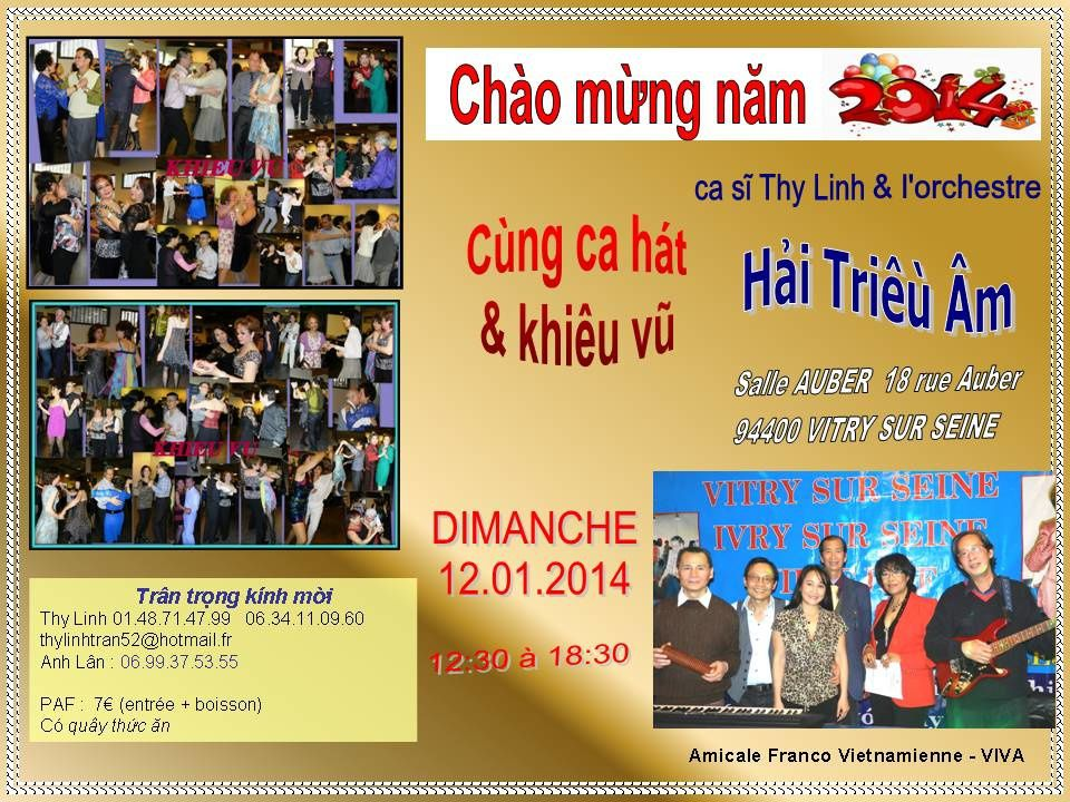 Chao Mung Nam - Auber le 12.01.2014