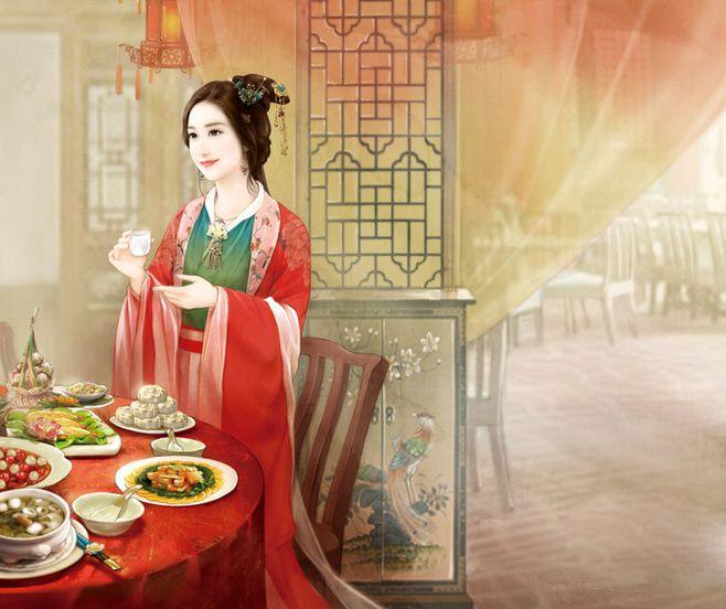 Antiques Beautées Chinoises - Les Courtisannes - Famille