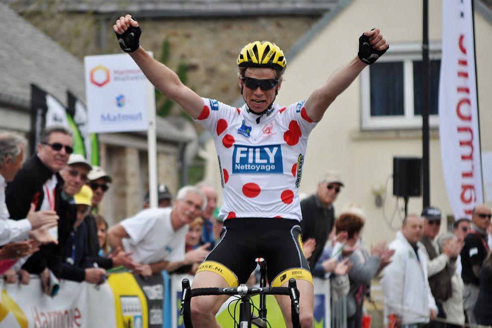 Jelmer Asjes vainqueur de l'avant dernière étape. Photo Mathilde L'Azou