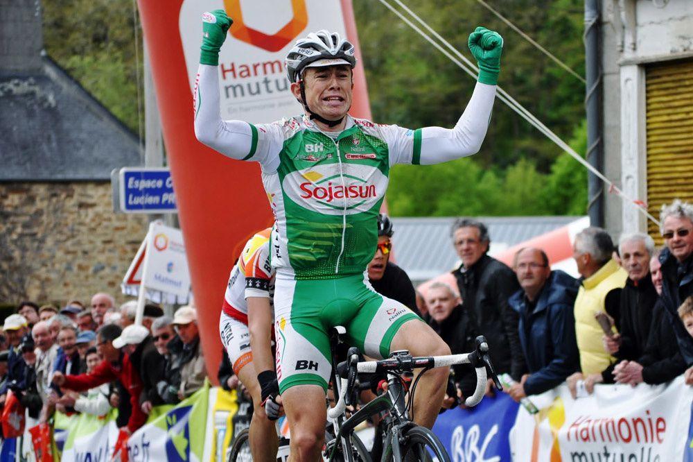 James McLaughlin remportant la dernière étape de l'Essor Breton. Photo Mathilde L'Azou