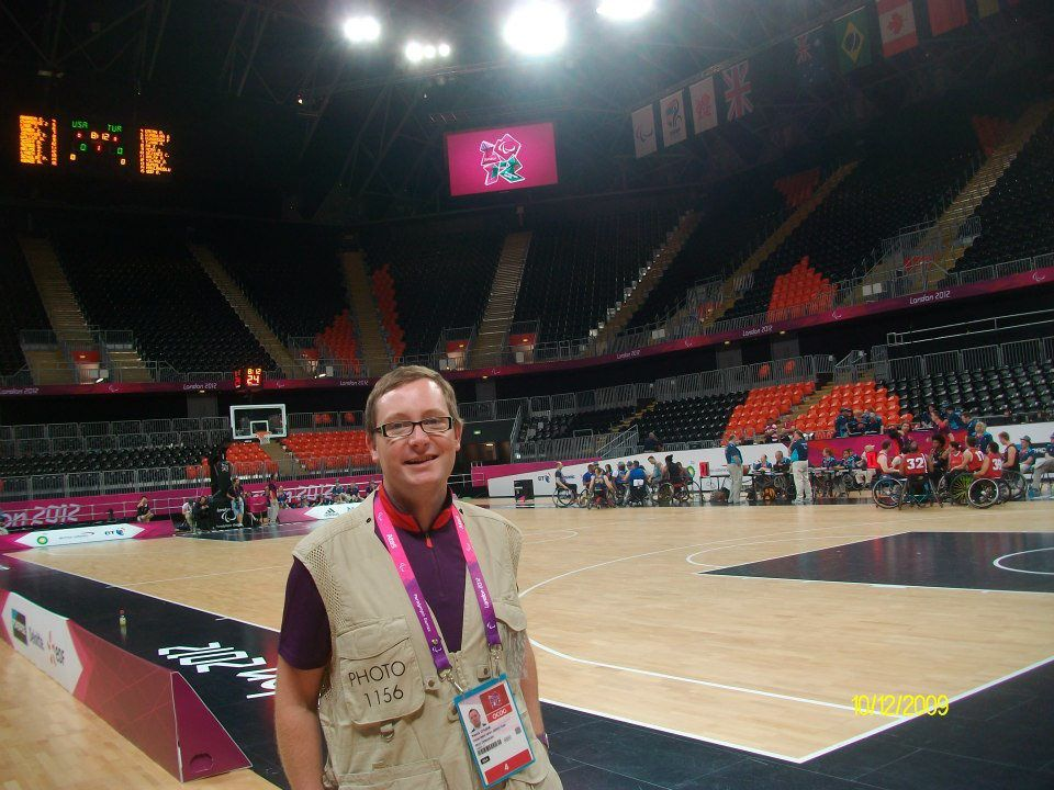 Premier jour de travail à la Basket Arena. First day at work in the Basketball Arena.
