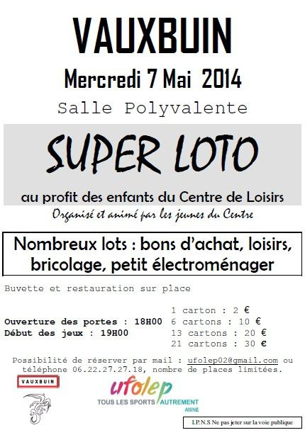Actions ados - Super loto du 07/05/14