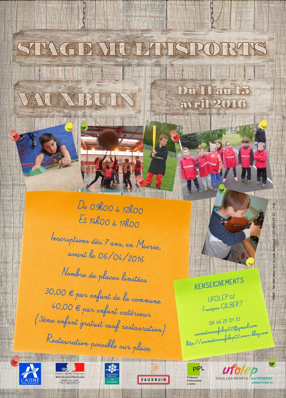 Stage multisport de VAUXBUIN - Avril 2016