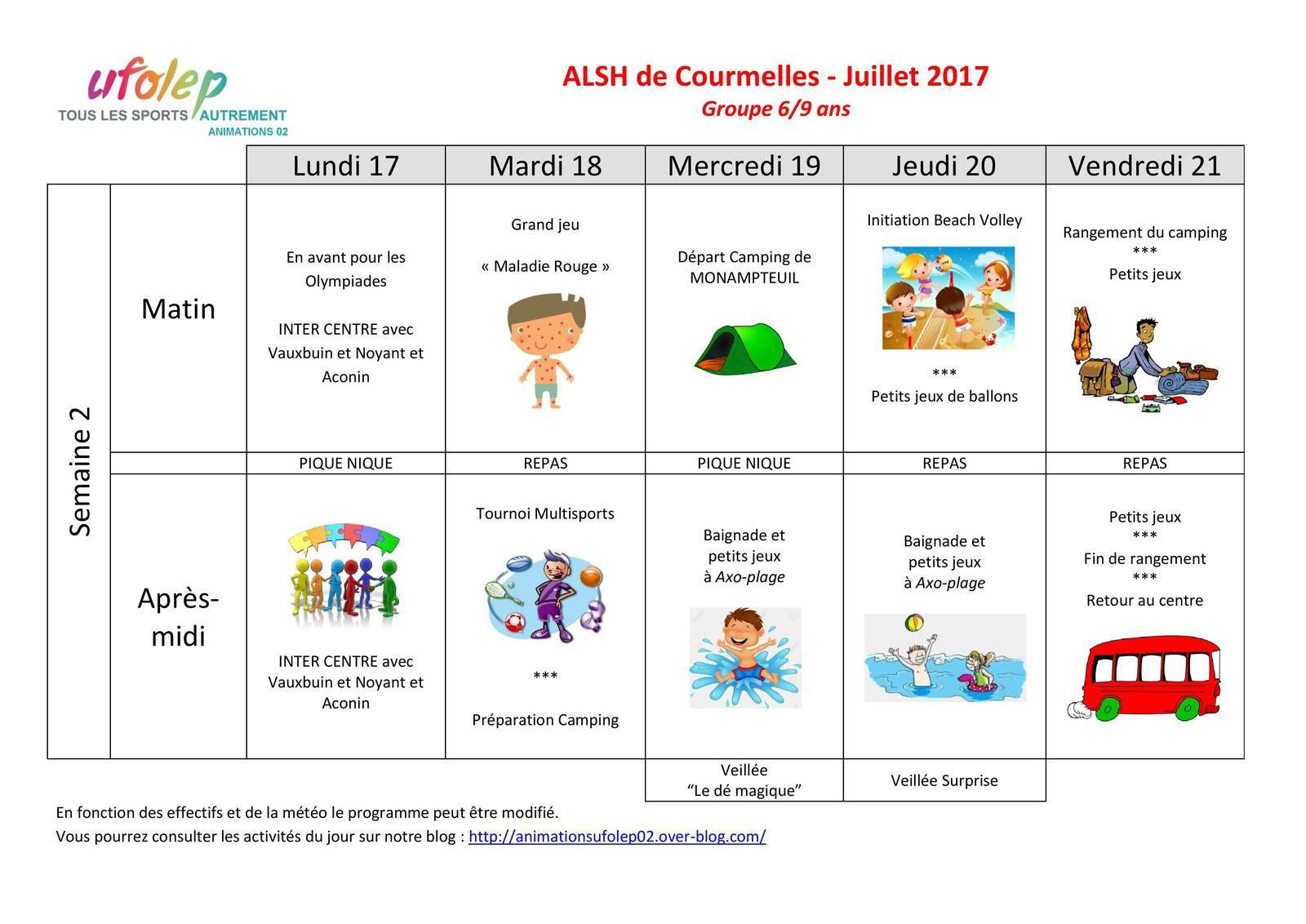 ALSH COURMELLES - Les activités