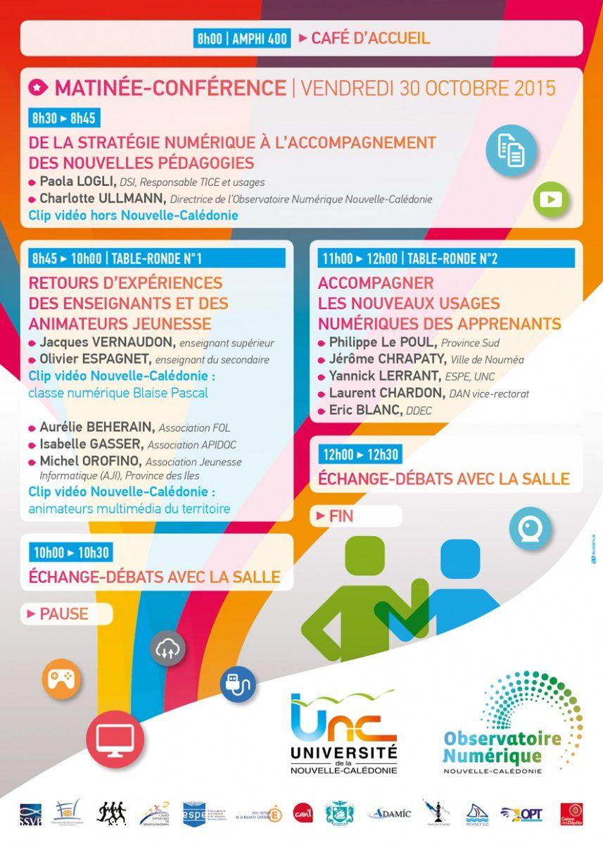 [Programme] Nlle-Calédonie : Les journées du numérique de l'UNC 2015