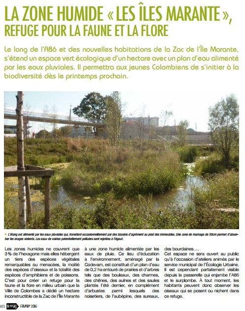 Article Colombes Le Mag Février 2016