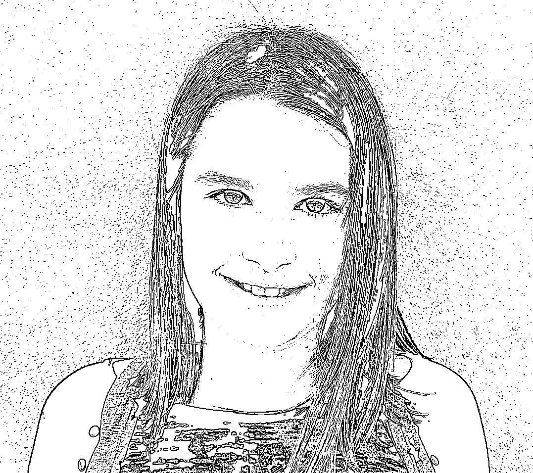 Portraits des élèves (retouchés avec un logiciel de dessin)