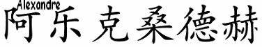 Prénoms en idéogrammes chinois
