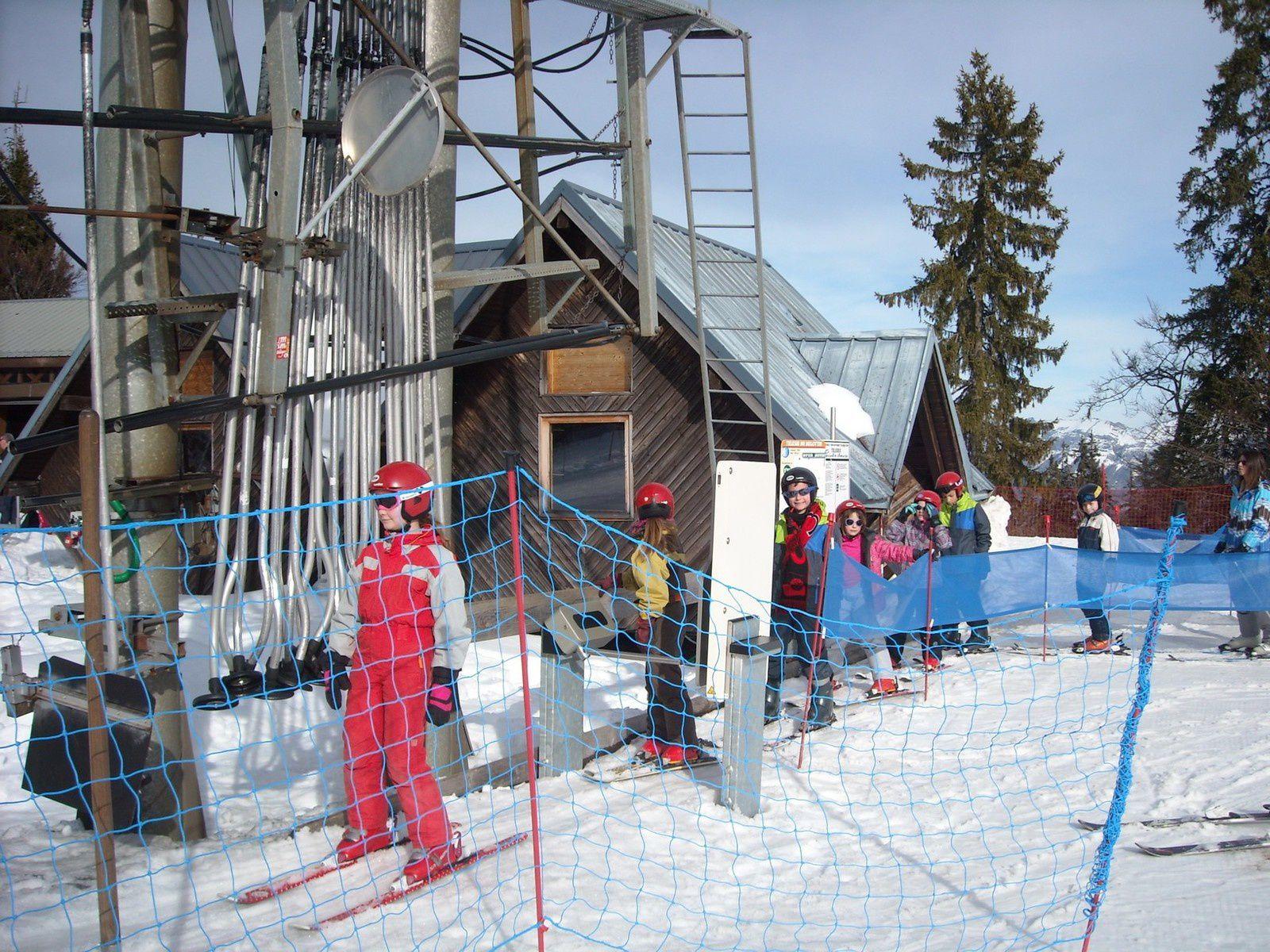 Ski de mercredi: le téléski (ou tire-fesses)
