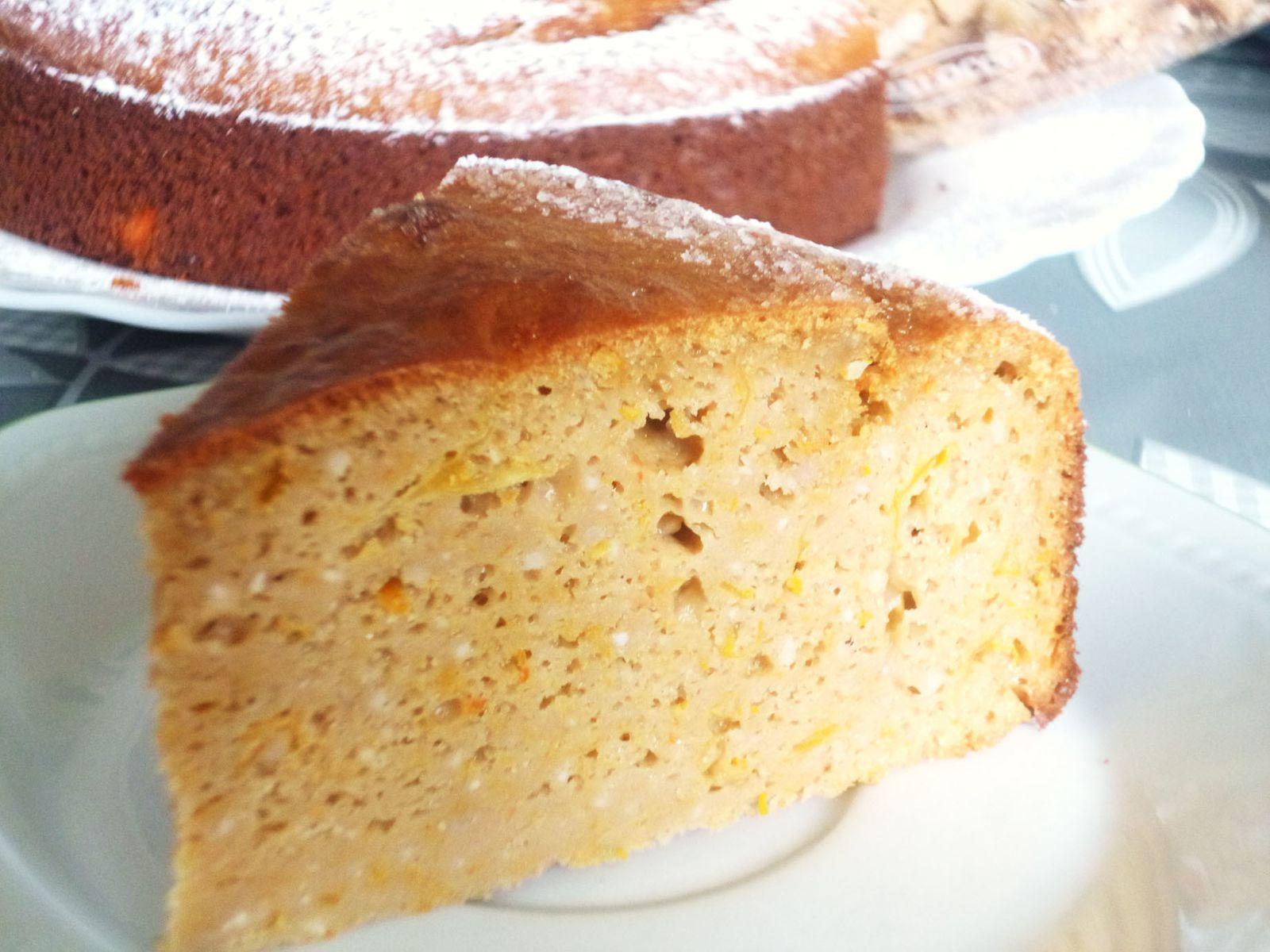 Gâteau moelleux aux clémentines et à la farine de châtaigne