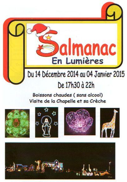 Salmanac (Aveyron) le village des lumières