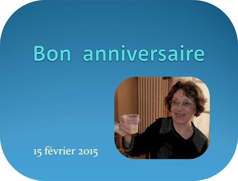 Bon anniversaire Madame Fortanier