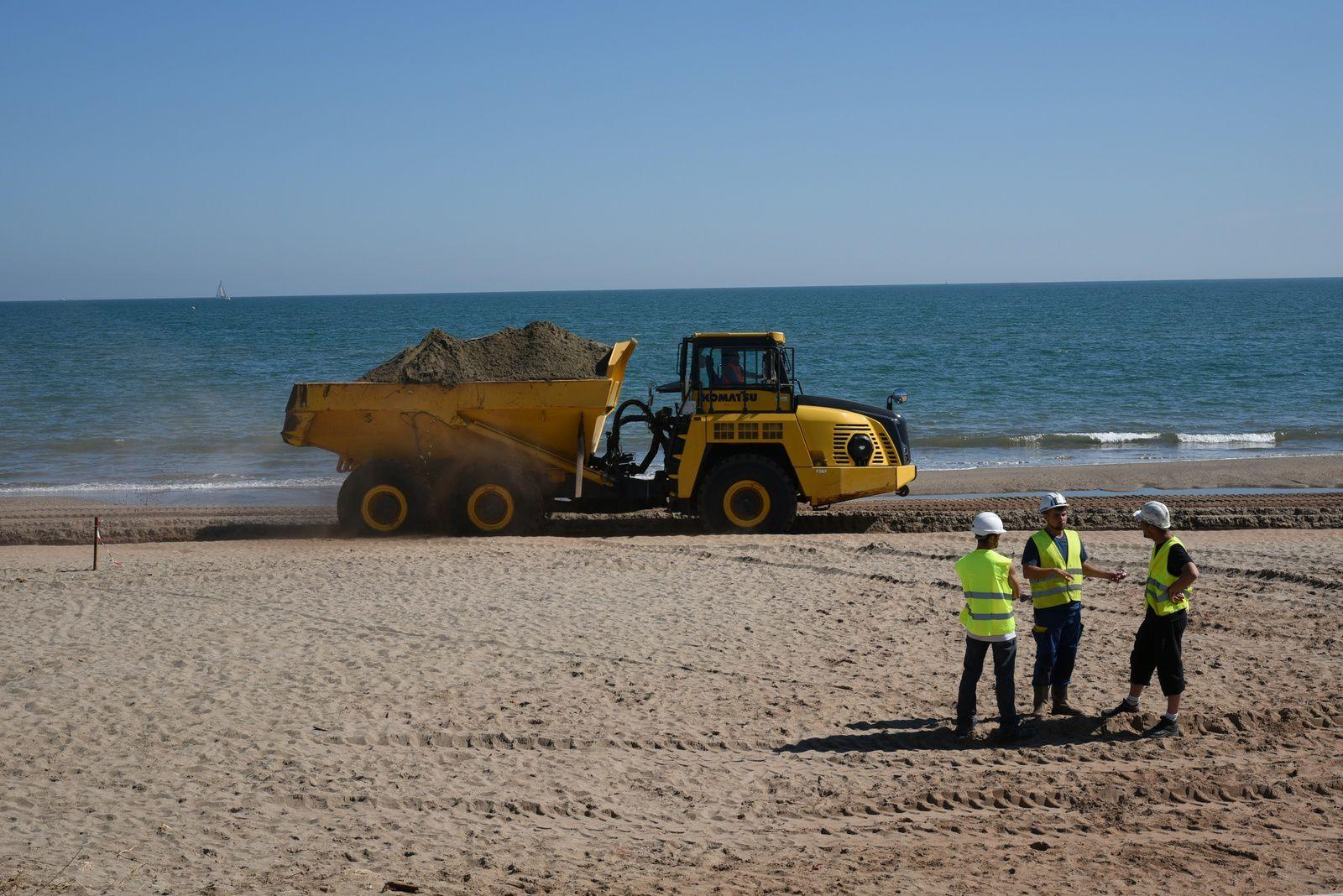 Le sujet du moment: travaux sur nos plages ...