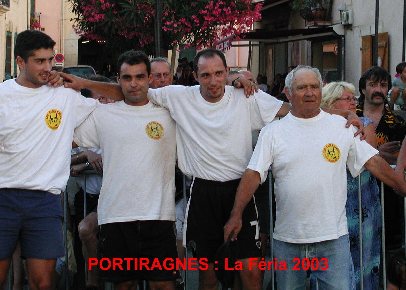 Féria 2003 avec Hugues et les jeunes atttrapaïres...