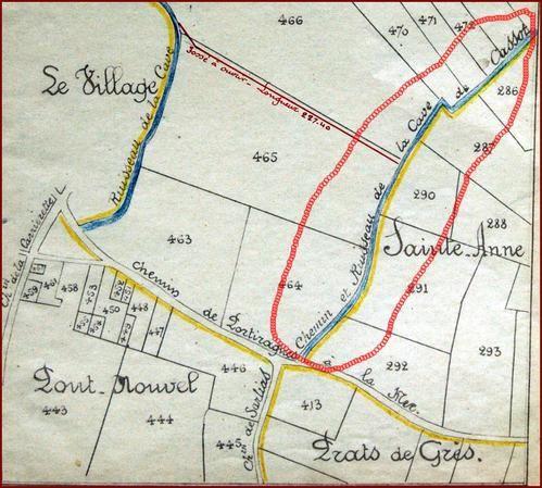 Extrait plan de Portiragnes  (1920)