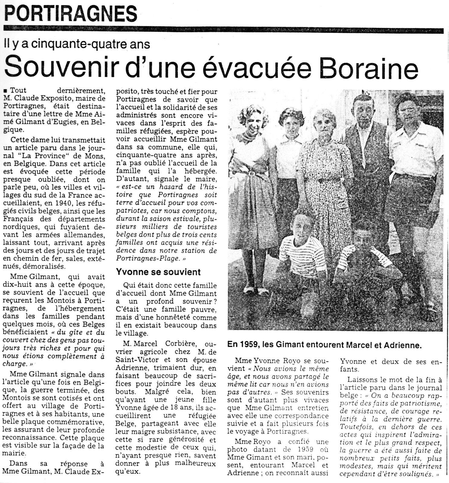 Extrait journal de 1994