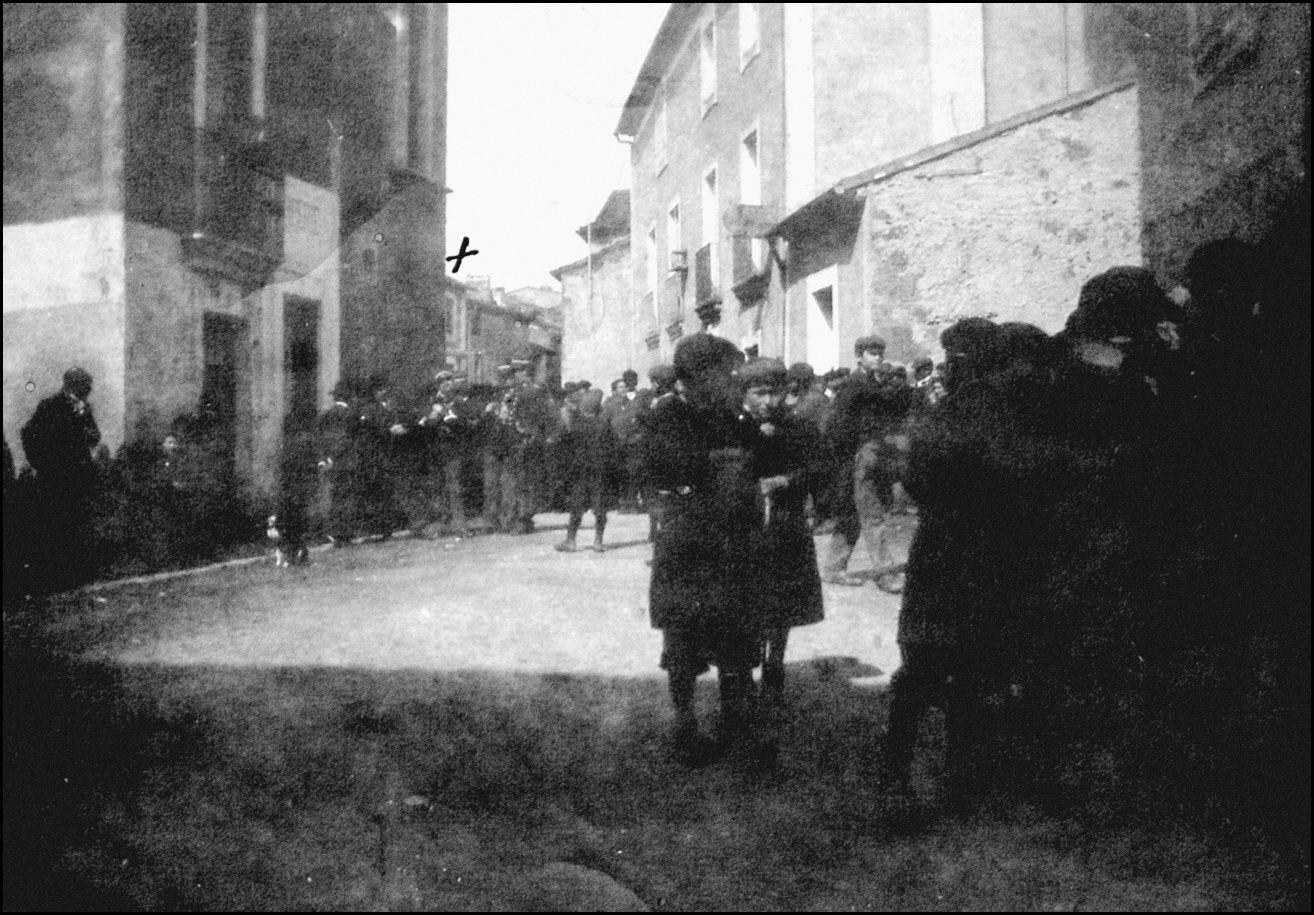 Rue de l'église en 1901