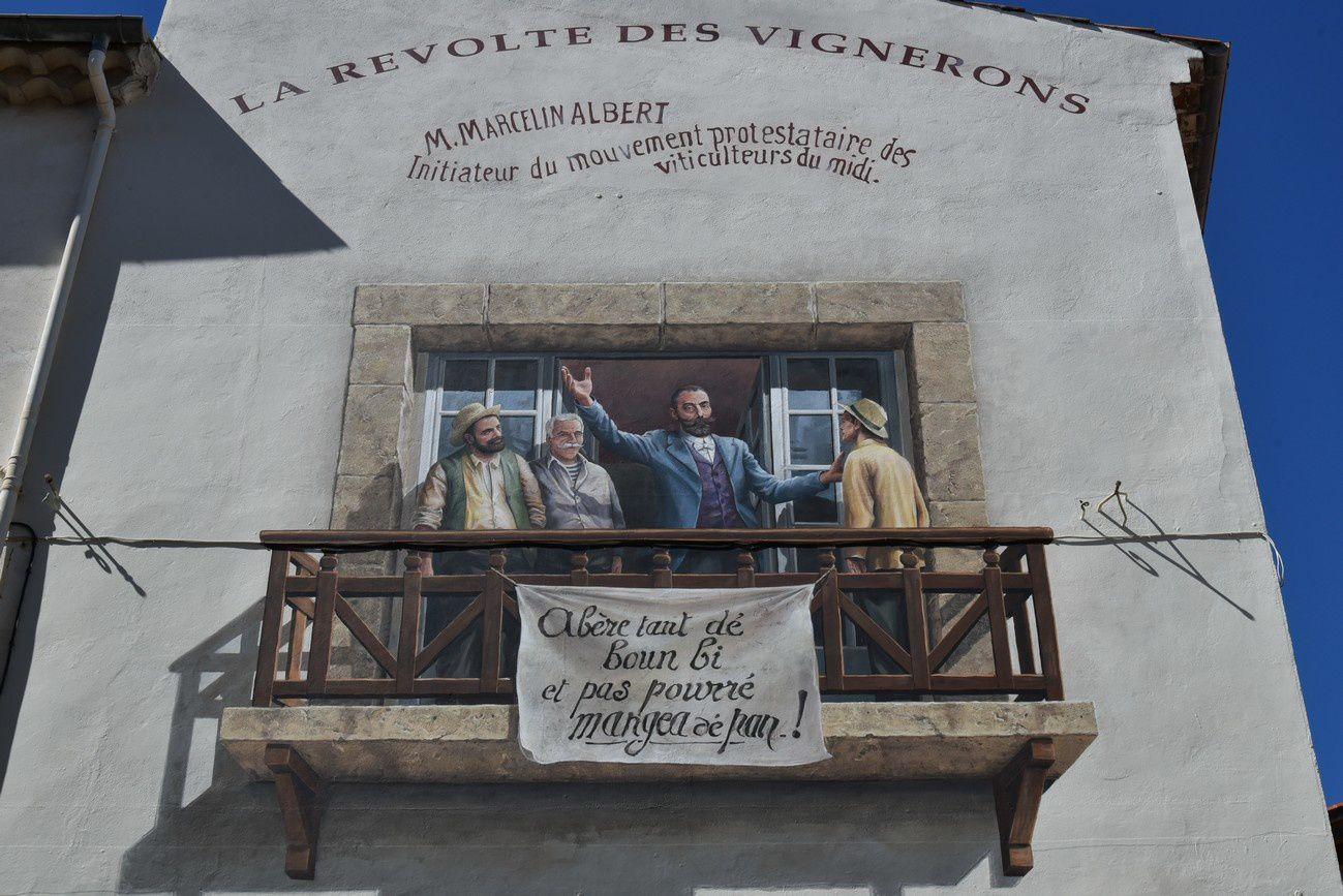 Révolte des vignerons avec Albert Marcellin (Rue des Capucins)