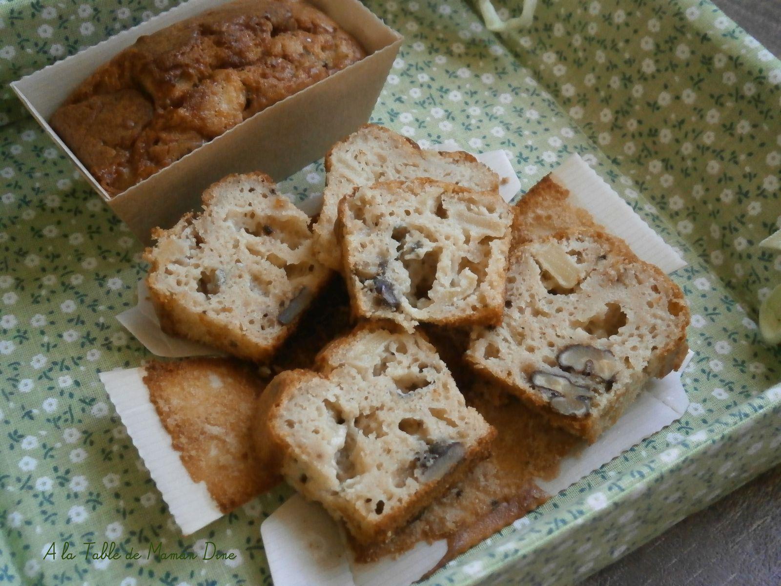 P'tits cakes au bleu des Causses, noix et miel de pissenlits {végétariens}