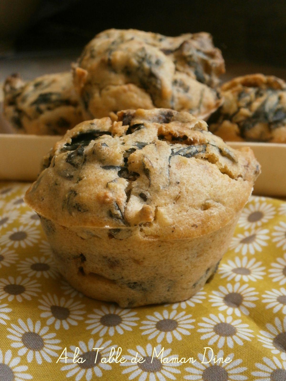 Muffins salés végétaliens aux cèpes et blettes ~ MM#38 ~