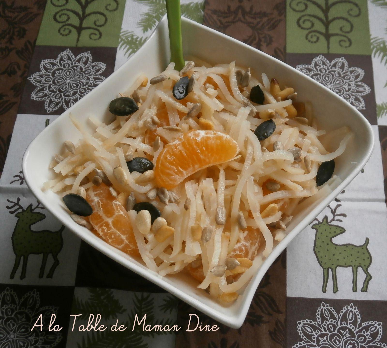 Salade automnale de céleri rave & clémentine