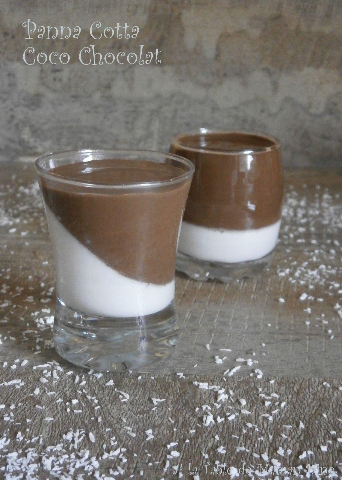 Panna Cotta Coco Cacao sans lactose