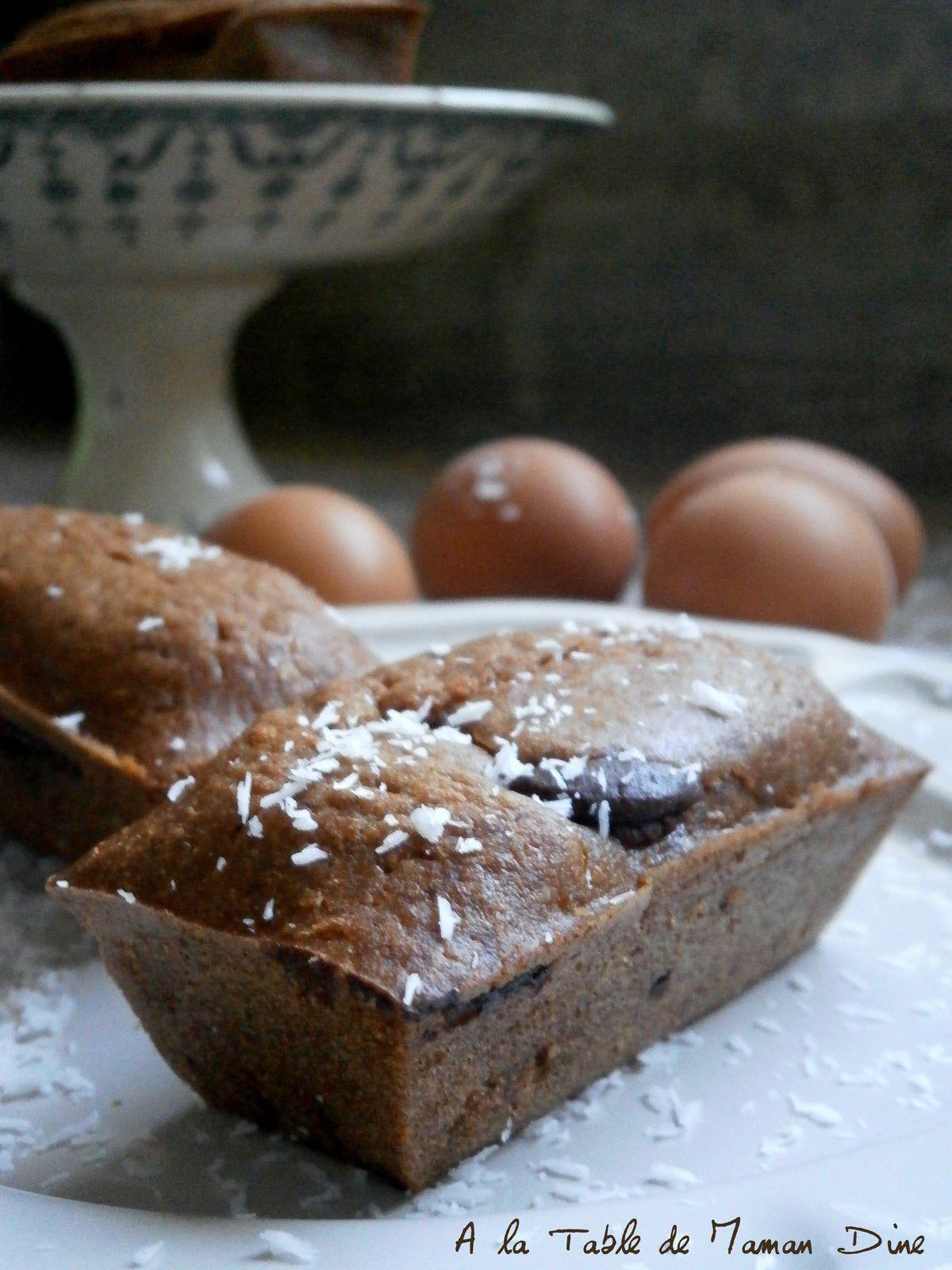 Cakes Chocolat noir &amp&#x3B; coeur de Coco ~ Sans lactose ~