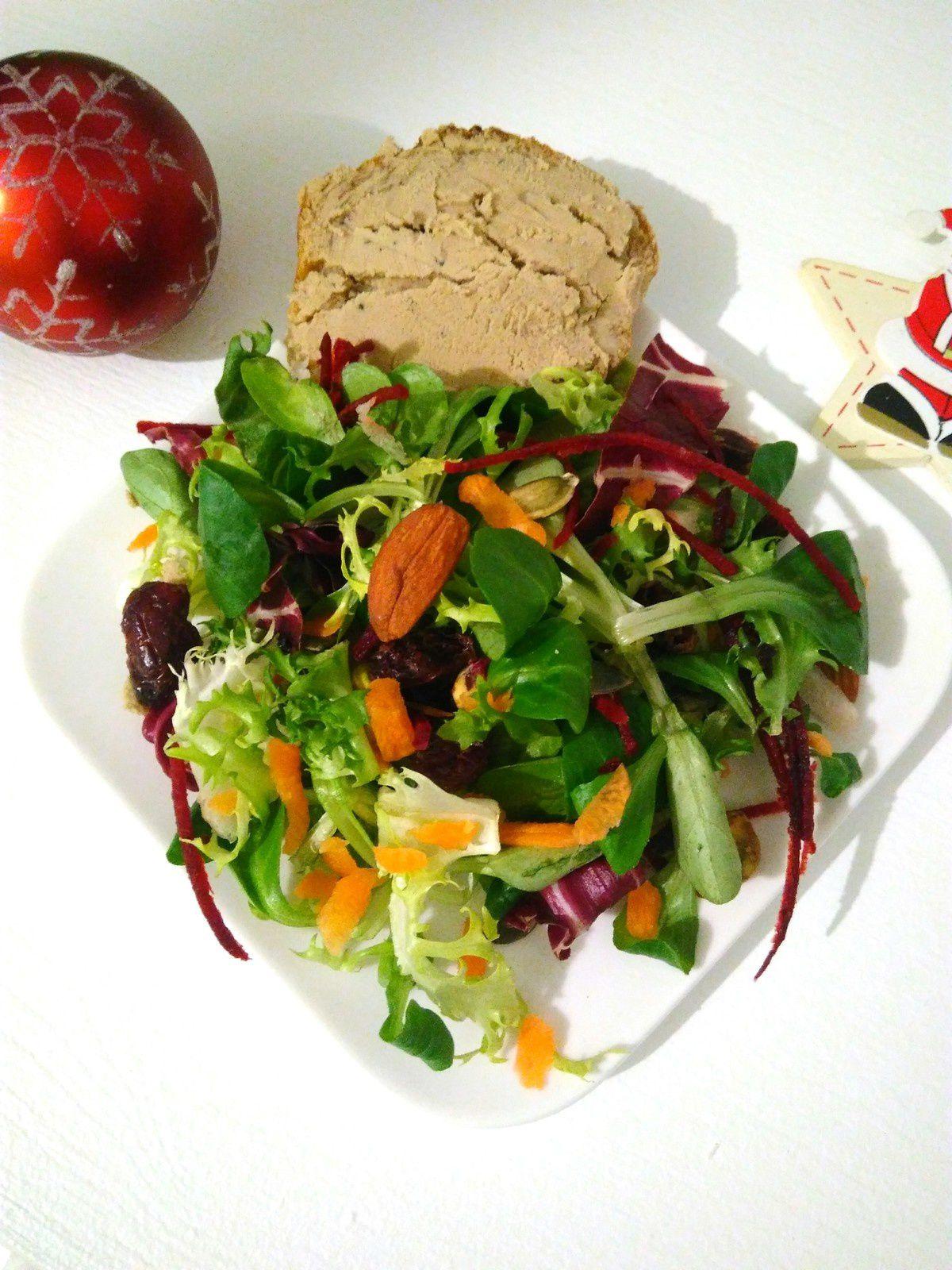 Salade gourmande festive vegan