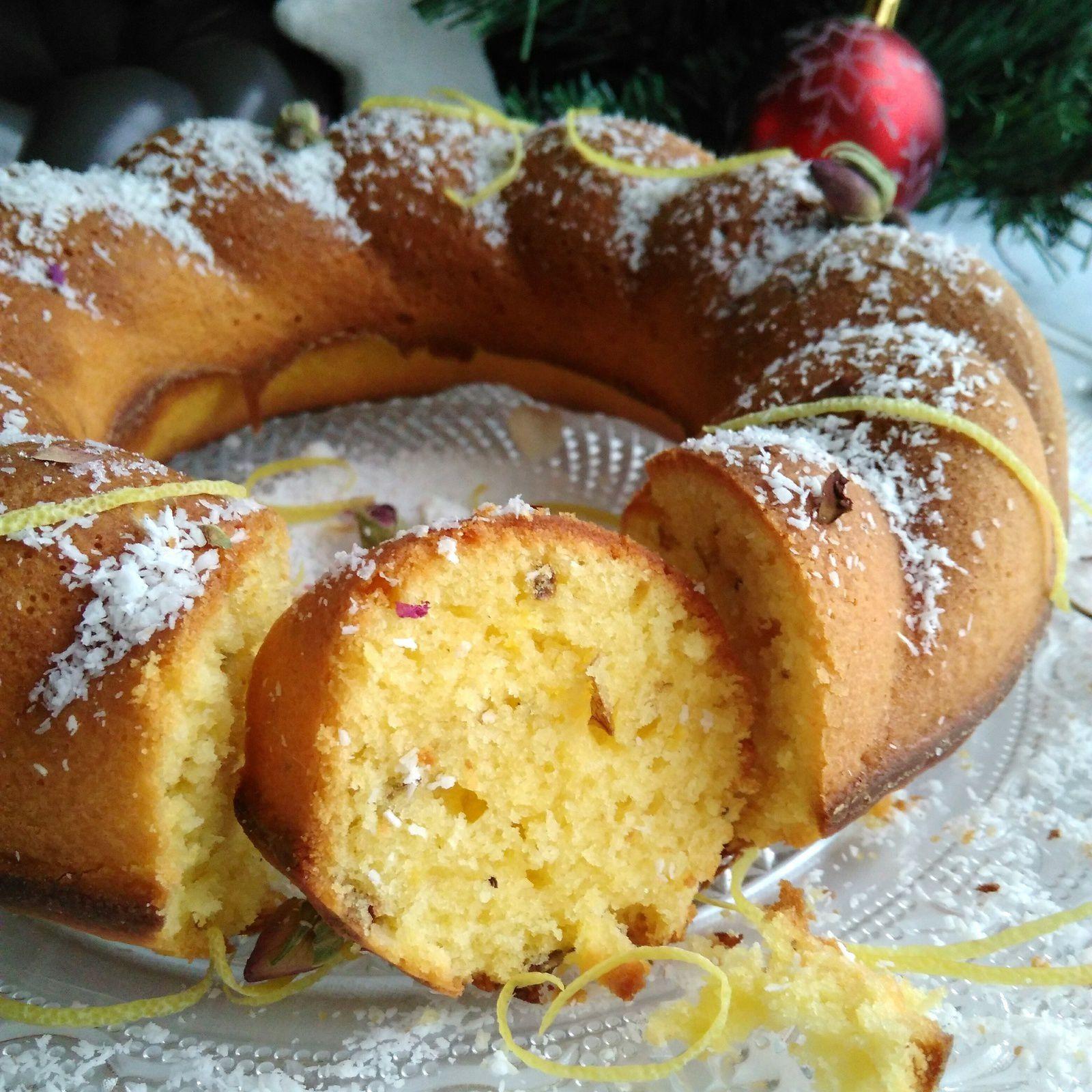 Gâteau sans lactose citron rose &amp&#x3B; coco