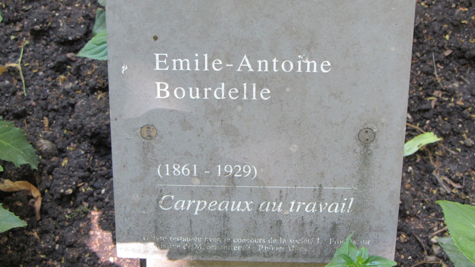 CARPEAUX au travail par BOURDELLE dans le jardin du musée des Beaux Arts de Lyon